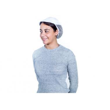 Кухненска шапка с мрежа и козирка бяла ROLL DRAP-(10000007)