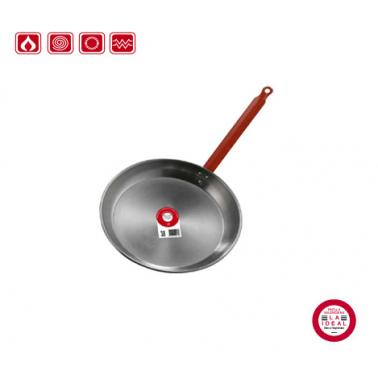 Иноксов тиган  с червена  дръжка ф32см 10232 - Garcima