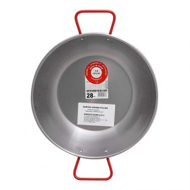 Иноксова дълбока тава за паеля с червени дръжки ф36см 10336 - Garcima