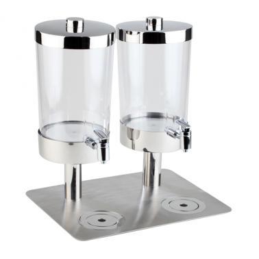 Иноксов диспенсър за напитки 2х6л с 4 охладителя, 35х45х48см SUNDAY DUO - APS