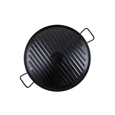 Емайлирана  грил тава за  паеля  черна ф36см 11036 - Garcima