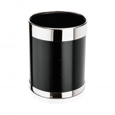 Метално кошче за хартиени отпадъци ф22см, черно - WAS