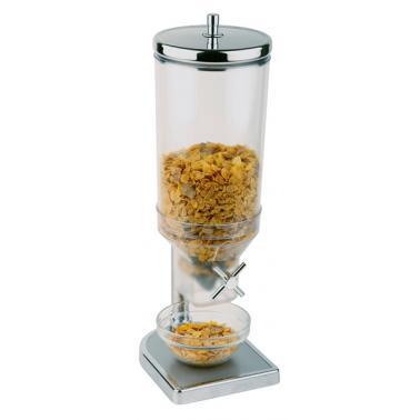 Иноксов диспенсър за зърнени закуски, 22x17,5см, h 52см 4,5л FRESH&EASY - APS