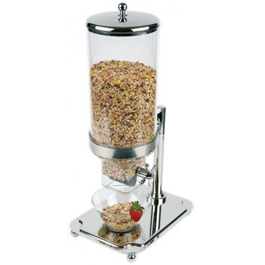 Иноксов диспенсър за зърнени закуски 35x26,5см, h 68см,  8л CLASSIC - APS