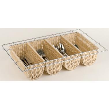 Полипропиленова кошница за прибори, 4 деления 53х32,5х10см BUFFET - APS