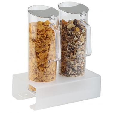 Акрилен дисплей за зърнени закуски + 2 контейнера х 1,5л, 26x17см, h 32,5см - APS