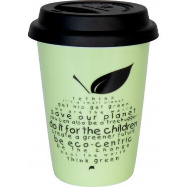 Порцеланова чаша с капак с декор 380мл