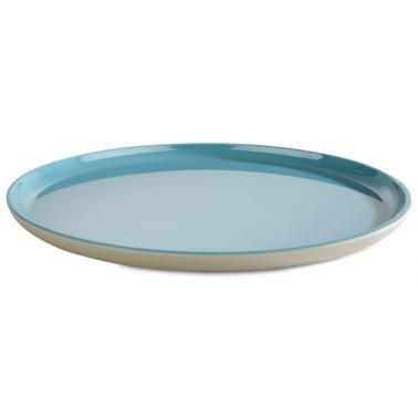 Меламинова чиния  сиво/синьо  ф24см  ASIA PLUS  - APS