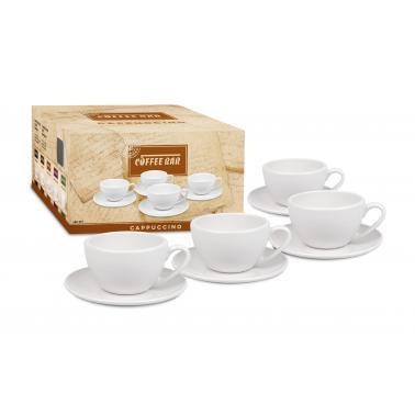 Порцеланов комплект от 4 чаши за капучино 240мл , бял - Konitz