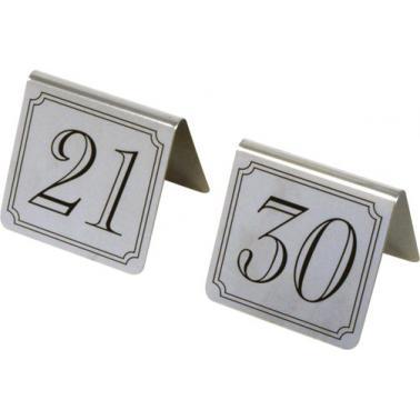 Иноксови табелки за маса - комплект от 21 до 30