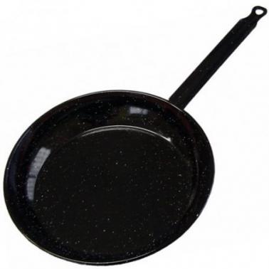 Емайлиран плитък  тиган  черен  ф18см   MANGO 20118 - Garcima