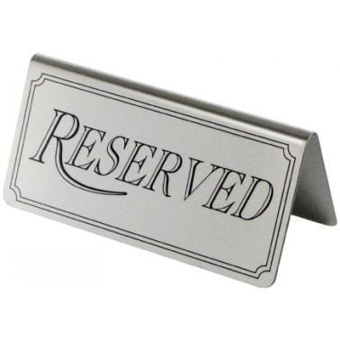 Иноксова табелка за маса - Reserved