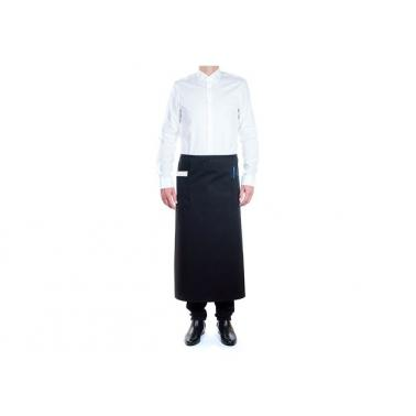 Сервитьорска престилка дълга  90x110см черна ROLL DRAP-(30000254)
