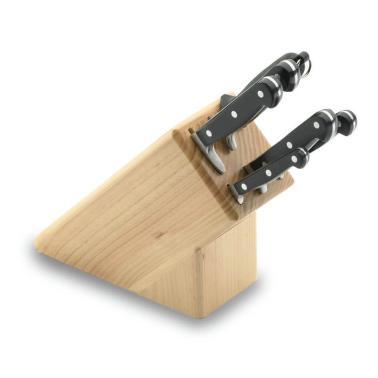 Комплект кухненски ножове - 6бр с дървена стойка 39000 - Lacor