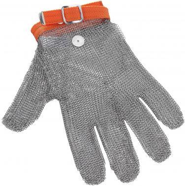 Иноксова много голяма  ръкавица за транжиране оранжева  размер 10  - Lacor