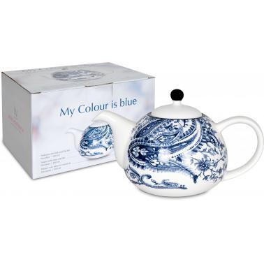 Порцеланов чайник 850мл с декор