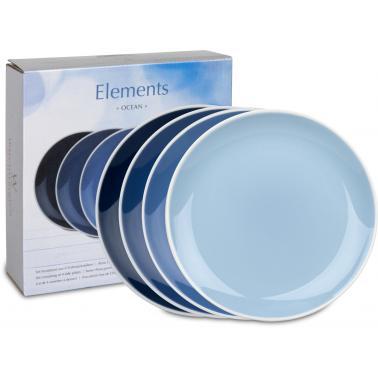 Порцеланов комплект от 4 чинийки 20см с декор