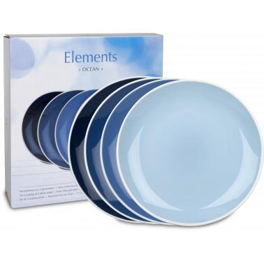 Порцеланов комплект от 4 основни чинии 27см с декор