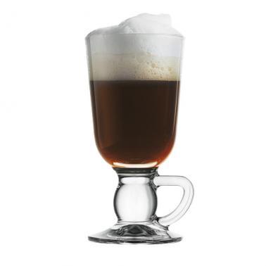 Стъклена чаша за ирландско кафе  / топли напитки на столче 280мл IRISH COFFEE - Pasabahce