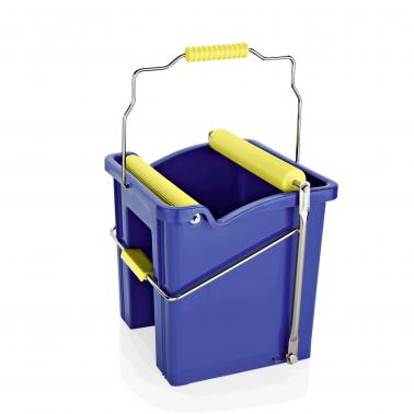 Кофа с преса за почистване 12,5л. , 29,5x33x33см , синя - WAS