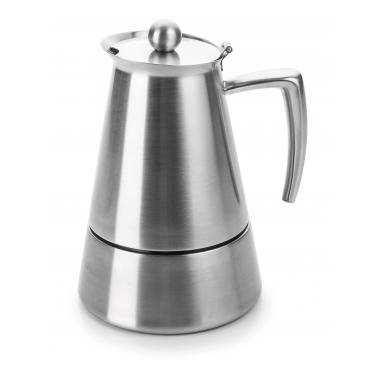 Иноксов кафеварка за еспресо 18/10, за 4 кафета Hyperluxe - Lacor