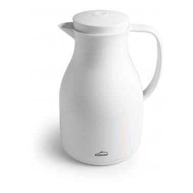 Термокана 1л бяла полипропилен/стъкло - Lacor