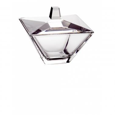 Стъклена купичка с капак за сервиране 11x11xh9,5cm VIDIVI-TORCELLO-(62969EM)