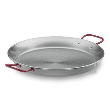 Метална тава  за паеля с червени дръжки  Steel Pro ф55см - Lacor