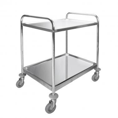 Иноксова количка за сервиране, 2 нива, МАХ 100кг, 89.5х64.5х94.5см - Lacor