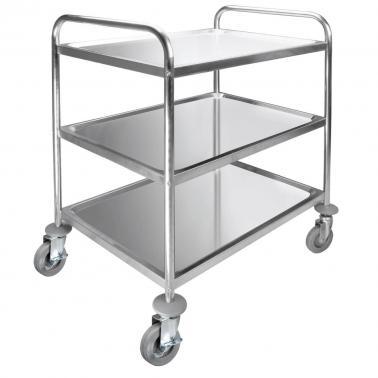 Иноксова количка за сервиране, 3 нива, МАХ 150кг, 89.5х64.5х94.5см - Lacor