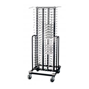 Метална количка за чинии, 100бр, 70х70х195см - Lacor
