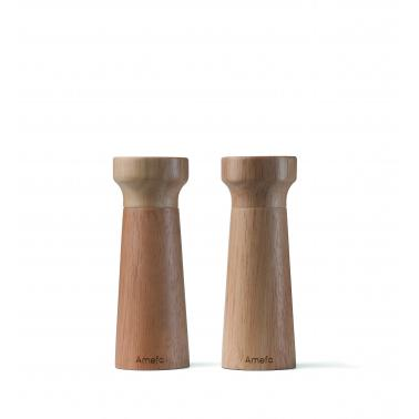 Мелнички за пипер и сол комплект 15 см., дърво MODERN - Amefa