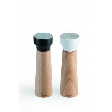 Дървени мелнички за пипер и сол комплект h20см MODERN GEO - Amefa (СПРЯНИ ОТ ПРОИЗВОДСТВО)