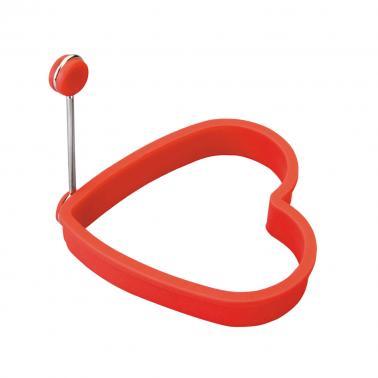 Силиконов ринг сърце за яйце 10.5х10.5х2см - Lacor