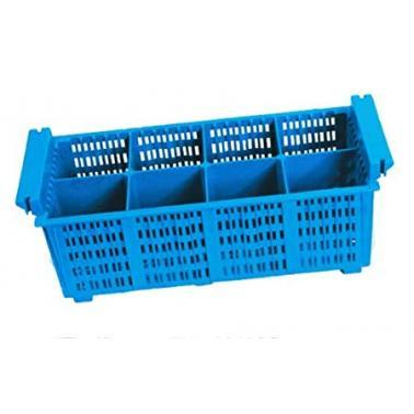 Полипропиленова кошничка за прибори, 8 раздела, 20.5х43х13см - Lacor