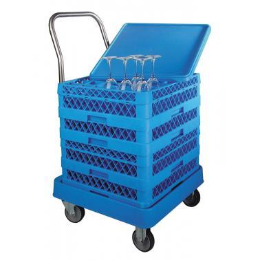 Полипропиленова количка за кошници за съдомиялна, 55х57х80см, с дръжка - Lacor
