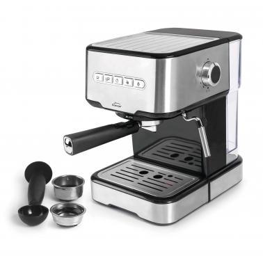 Еспресо машина за смляно кафе и ESE капсули 220-240V, 50/60Hz, 850W, 15 bar, 1,5л, 21x26,5x30см, 3,60кг - Lacor
