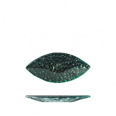 Стъклена чиния листо зелено  18см   NAMI GLASS TABLEWARE - Suisse Langenthal