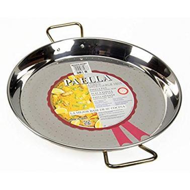 Иноксова тава за паеля със златисти  дръжки    ф28см  ACERO 70028 - Garcima