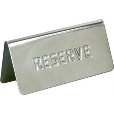 Иноксова табелка за маса - Reserve