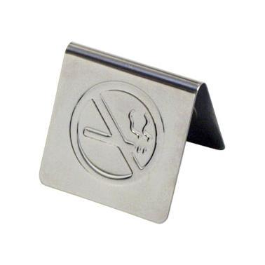 Иноксова табелка за маса - No Smoking