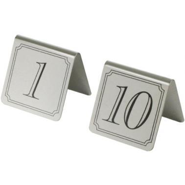 Иноксова табелки за маса - комплект от 1 до 10