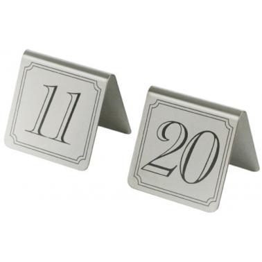 Иноксови табелки за маса - комплект от 11 до 20