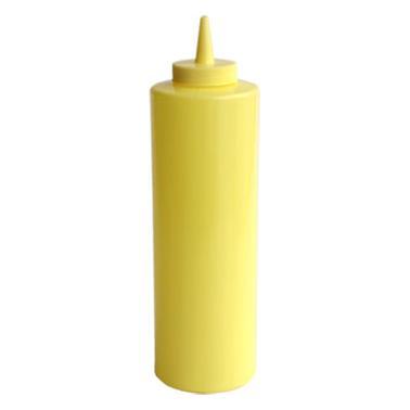 Пластмасова бутилка за сос, жълта - 720мл