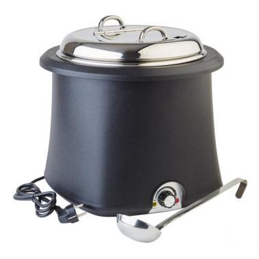 Иноксов отоплител за супа с полипропиленова повърхност, електрически ф38см, 10л - APS