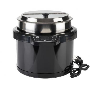 Иноксов отоплител за супа с полипропиленова повърхност, електрически ф34см, 10л - APS