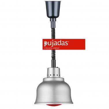 Отопляема лампа инокс, ф23см, 230V, кабел 140см, копче за вкл/изкл, крушка 250W - Pujadas