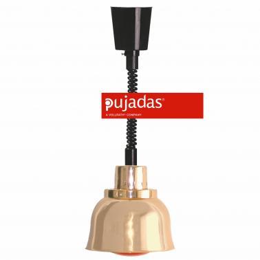 Отопляема лампа мед, ф23см, 230V, кабел 140см, копче за вкл/изкл, крушка 250W - Pujadas