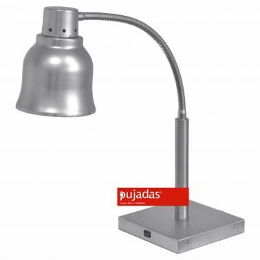 Отопляема лампа с основа от неръждаема стомана и червена крушка 250W, 22x22см, h65см, 230V, 250W - Pujadas