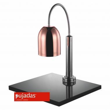 Отопляема лампа мед с основа мрамор, 230W, 50x45см, h65, без крушка, флексибъл - Pujadas